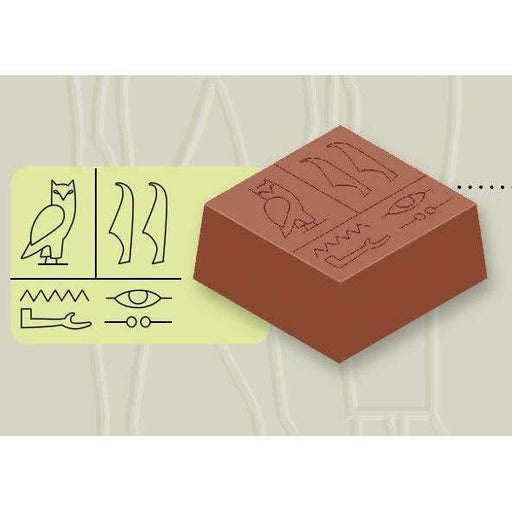 Chocolate Mould Egyptian Hieroglyph Square Bonbons II