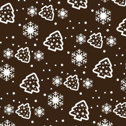 Chocolate Transfer Sheets - Christmas Sky