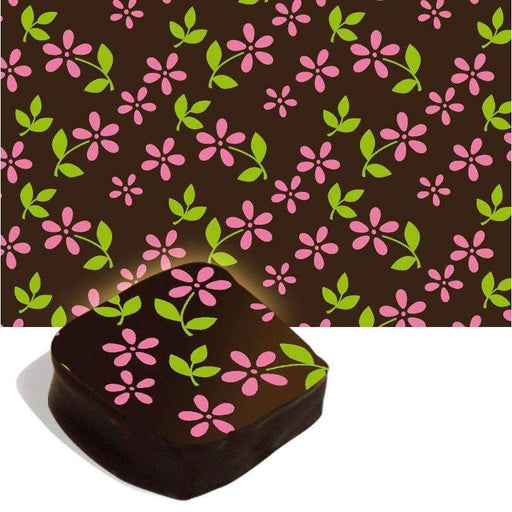 Chocolate Transfer Sheets - Flowers