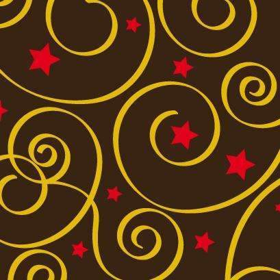 Chocolate Transfer Sheets - Swirls & Stars