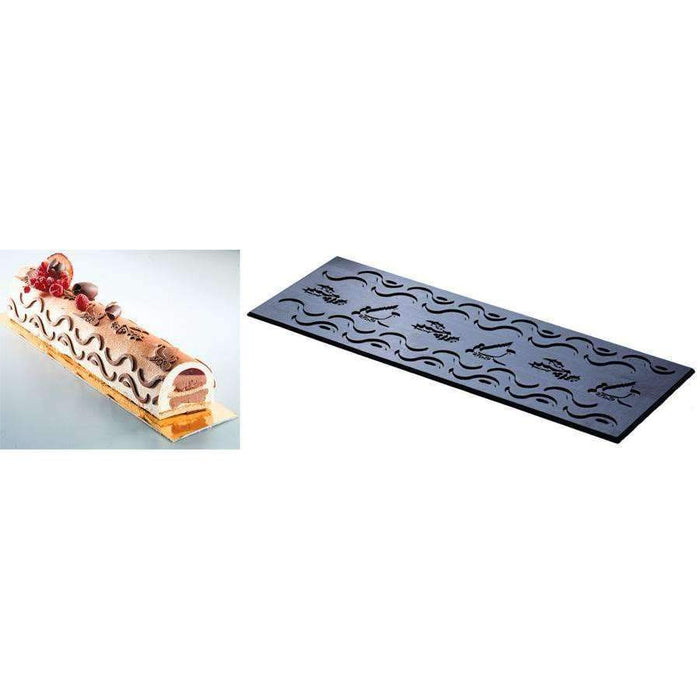 Christmas Log Silicone Relief Decor Mat