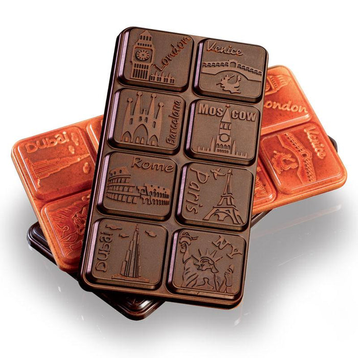 80g Cities Chocolate Bar Mould