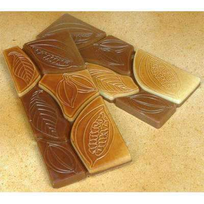 Cocoa Motif 50g Bar Chocolate Mould