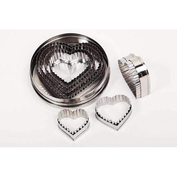 Cutters Set Flutted Heart