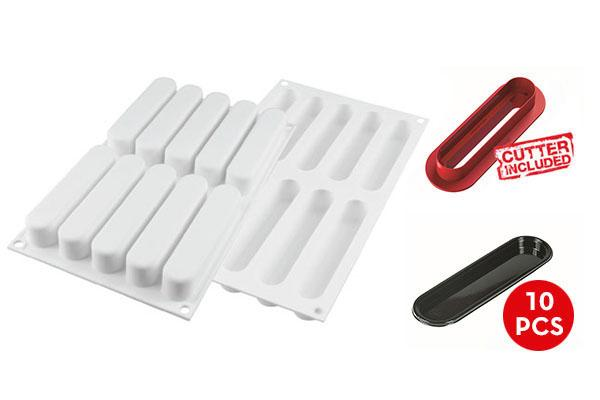 Silikomart™ Eclair 80 Silicone Mould