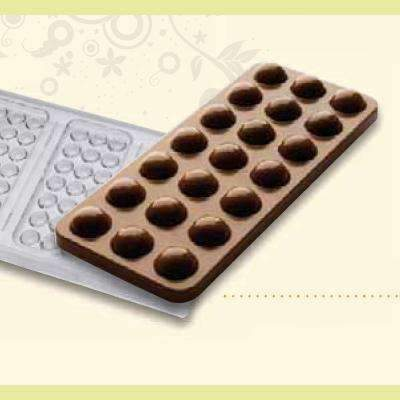 Half spheres 100g Bar Chocolate Mould