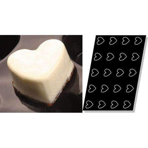 Hearts Silicone Mould - 66 mm -Deep