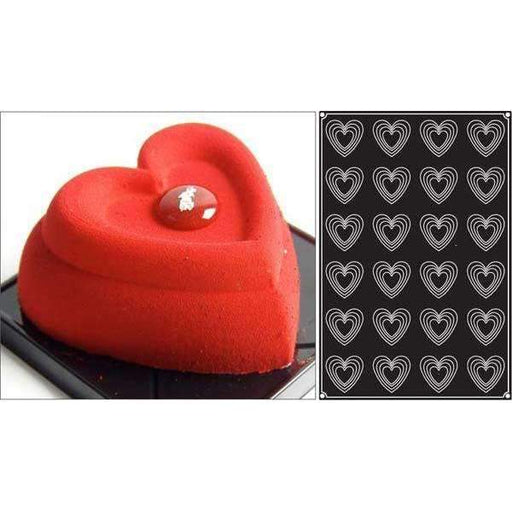 Hearts Silicone Mould