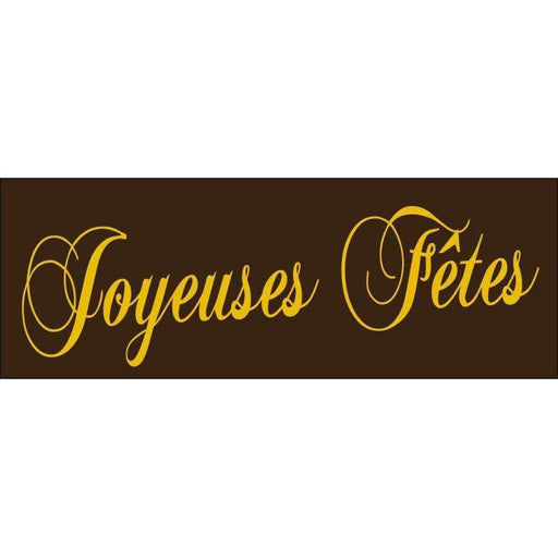 Joyeuses Fêtes Label Transfer Sheets