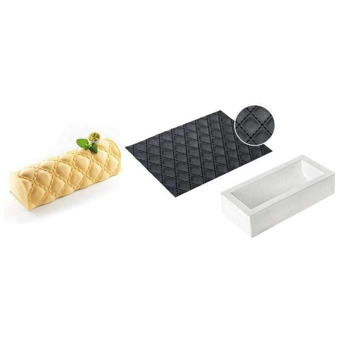 Kit Buche Quilted Silicone Mould