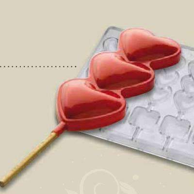 Love, Love, Love Lollipop Chocolate Mould