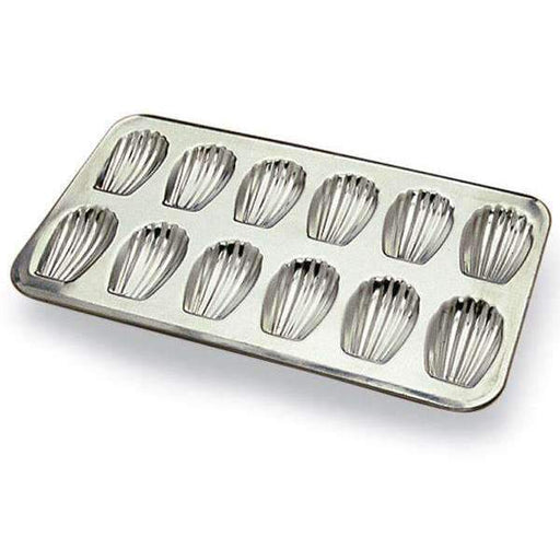 Madeleine Stamped Sheet Heavy Tin Moulds