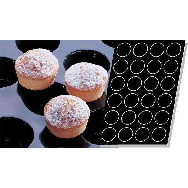 Moule en silicone Muffins - Ø 79 mm