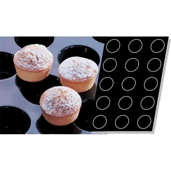 Moule en silicone Muffins - Ø 82 mm