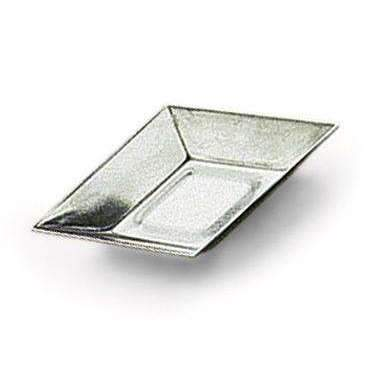 "Plain ""Petit Fours"" Diamond Shape Heavy Tin Moulds"