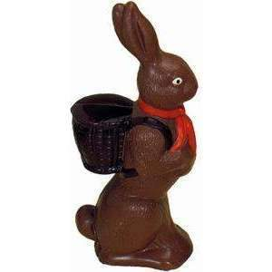 Rabbit w/ Basket Chocolate Thermoformed Mould 7""