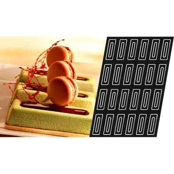Moule rectangulaire en silicone Savarin