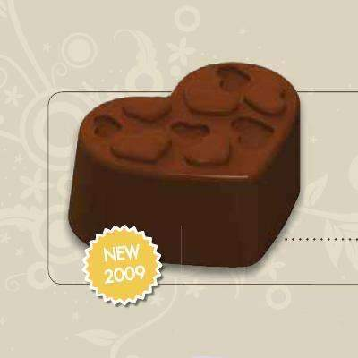 Relief Heart Bonbon Chocolate Mould
