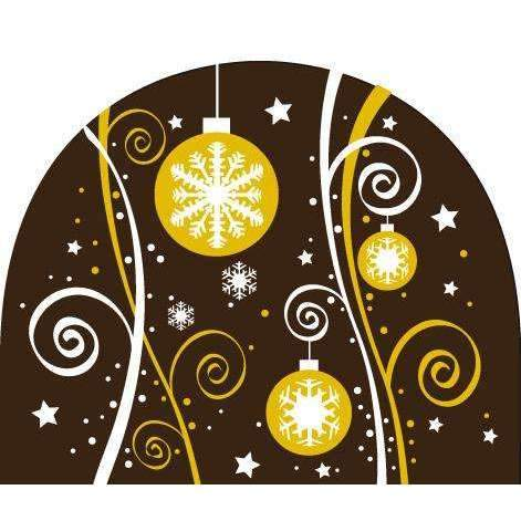Round Log End Transfer Sheets - Christmas Ornaments