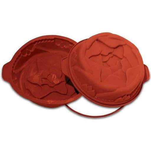 Round Low Rose Silicone Mould