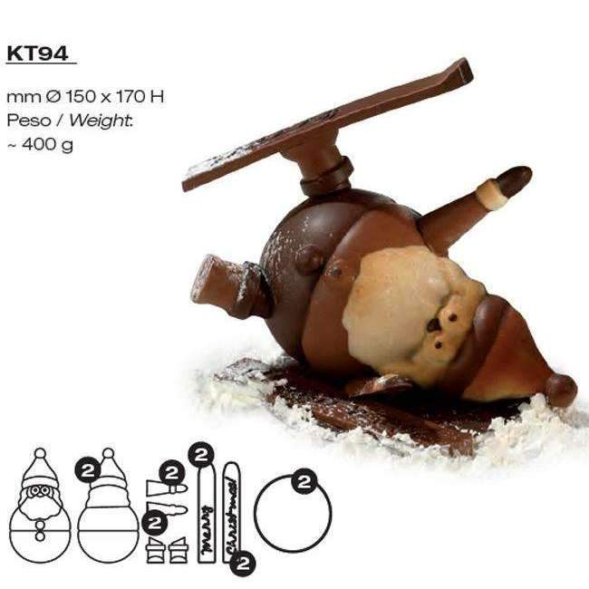 Santa Claus on Skis Kit Chocolate Mould