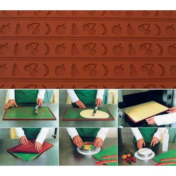 Silicone Relief Decor Mat - Fruit