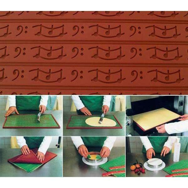 Silicone Relief Decor Mat - Music