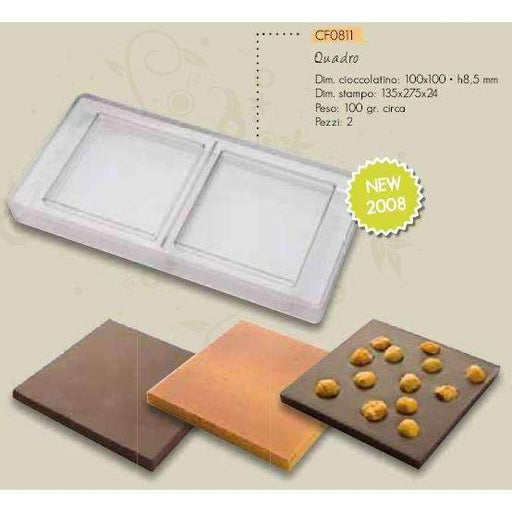Square 100g Bar Chocolate Mould