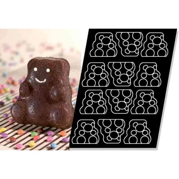 Teddy Bears Silicone Mould - 115 mm