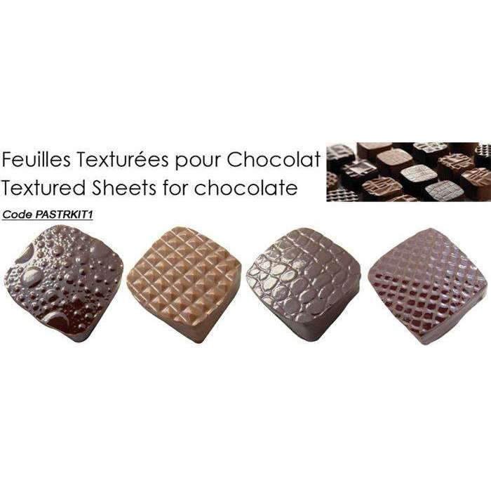 Textured Sheets for chocolate - KIT 1