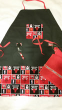 Handmade Sports Apron made with NBA fabric on sturdy canvas fabric