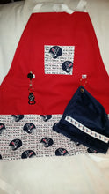 Handmade Sports Apron made with NFL fabric on sturdy canvas fabric