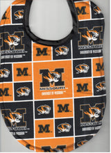Handmade Baby Bibs made with NCAA fabric