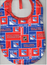 Handmade Baby Bibs made with NHL fabric