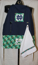Handmade Sports Apron made with NCAA/College fabric on sturdy canvas fabric