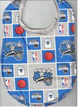 Handmade Baby Bibs made with NBA fabric
