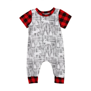 Checkered Christmas Romper