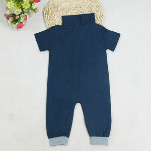 Denim Zip Romper