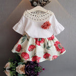 Floral Flower and Skirt Set