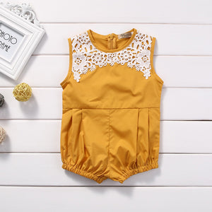 Girls summer lace romper