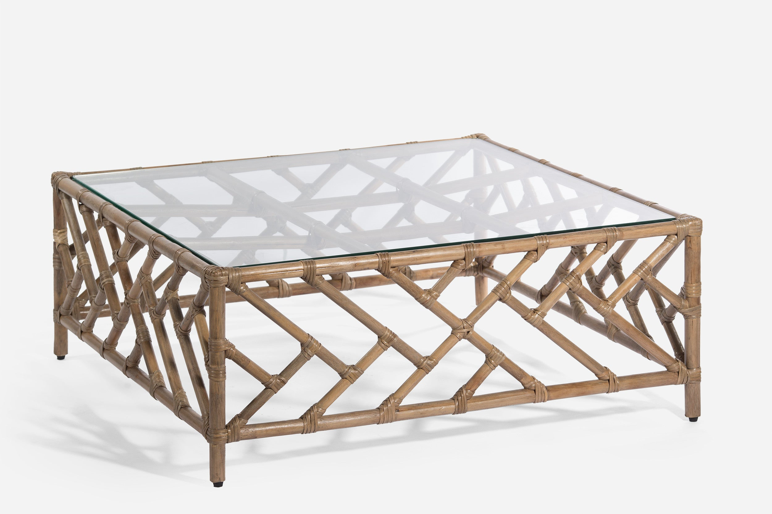 Ming Rattan Coffee Table WisteriaDesign