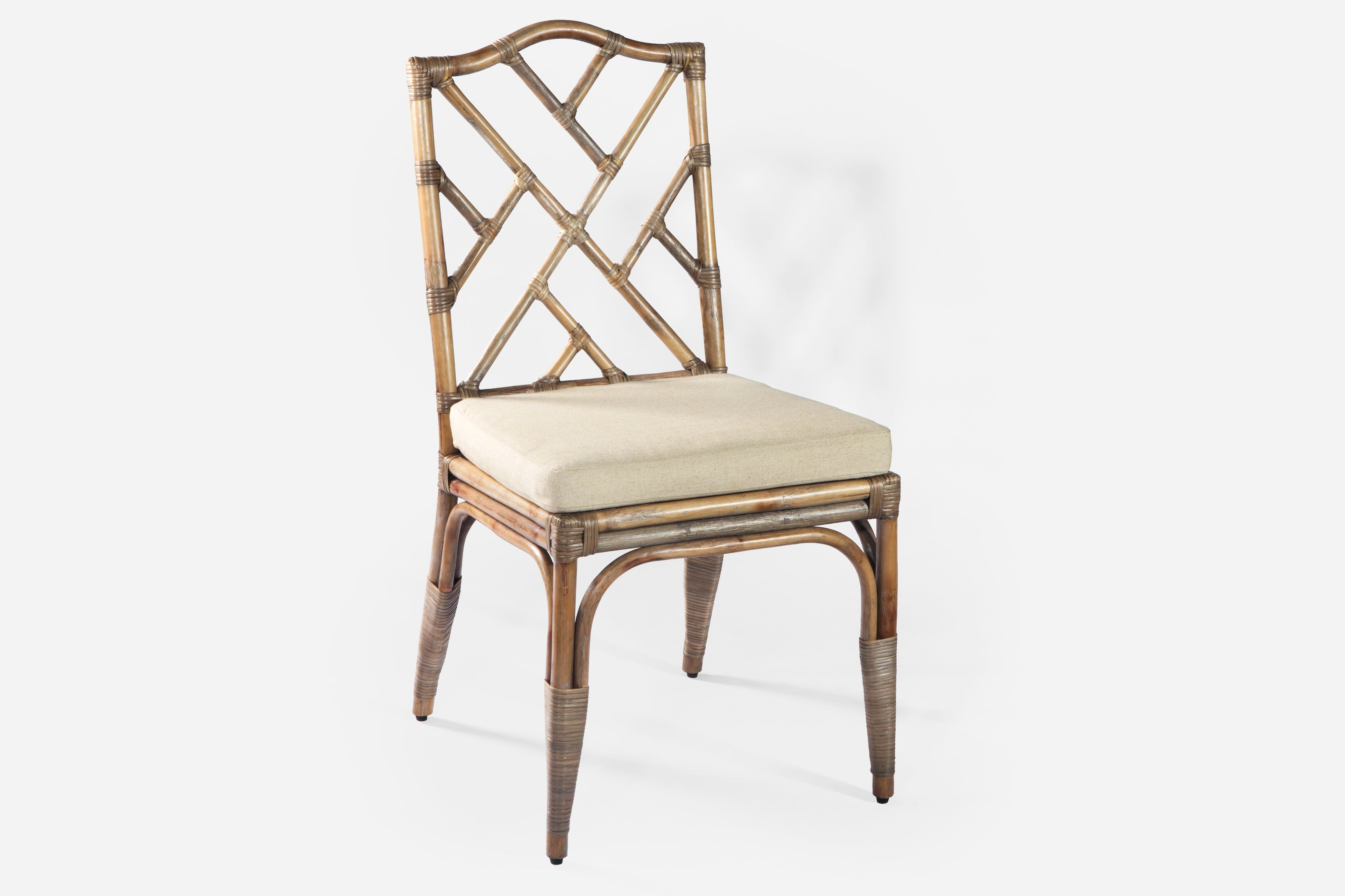 Ming rattan dining chair