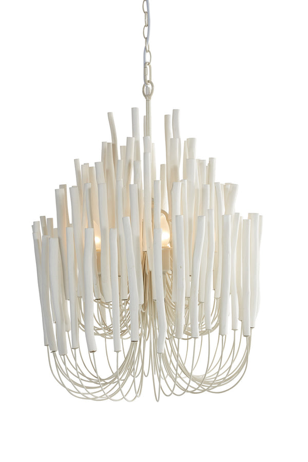 Wooden Candle Stick Lamp In White Wisteriadesign