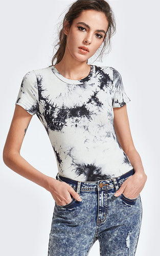 Short Sleeve Tie Dye Bodysuit