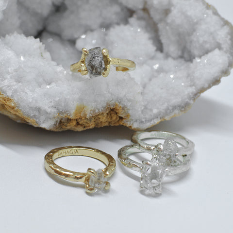 Herkimer Diamond Ring - Gold