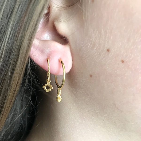 Lila double hoops - Gold