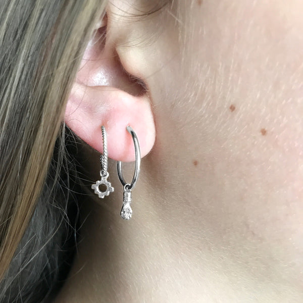 Lila double hoops - Sterling Silver