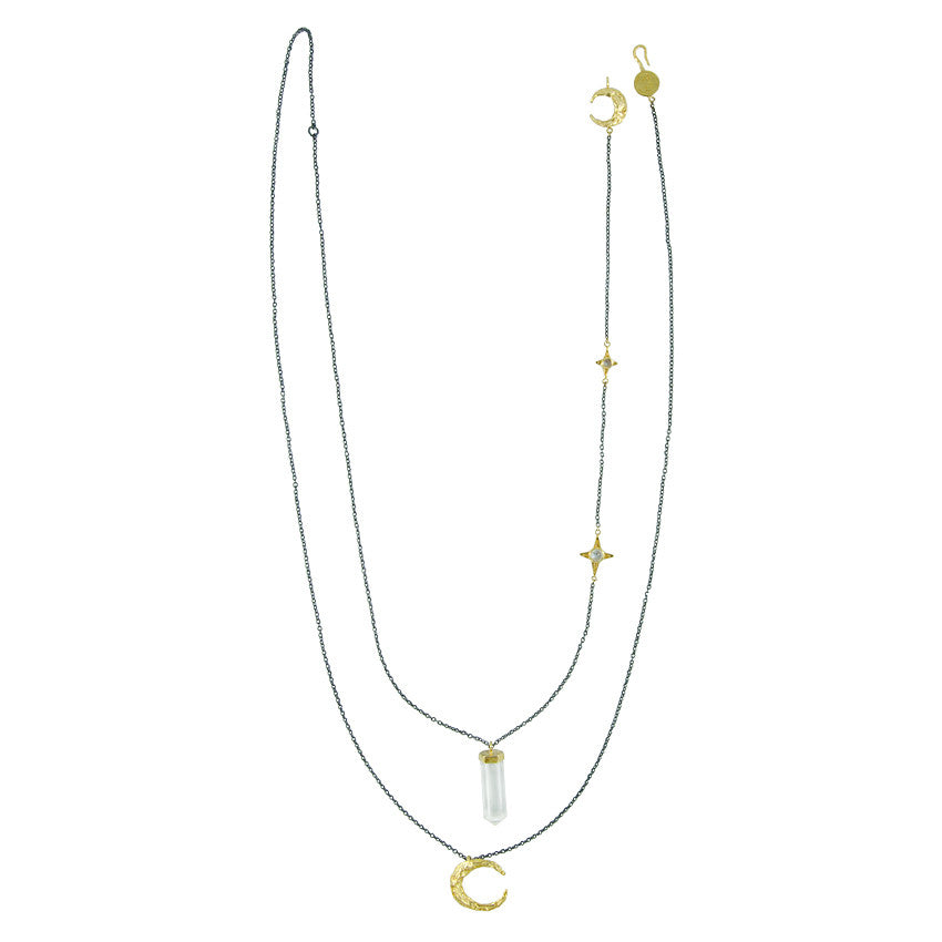 Malam Crystal Necklace - Gold