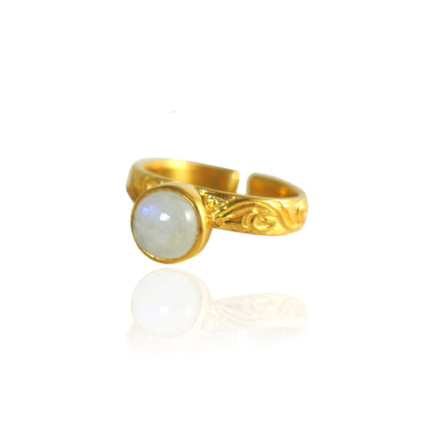 Bali Moon Ring - Gold