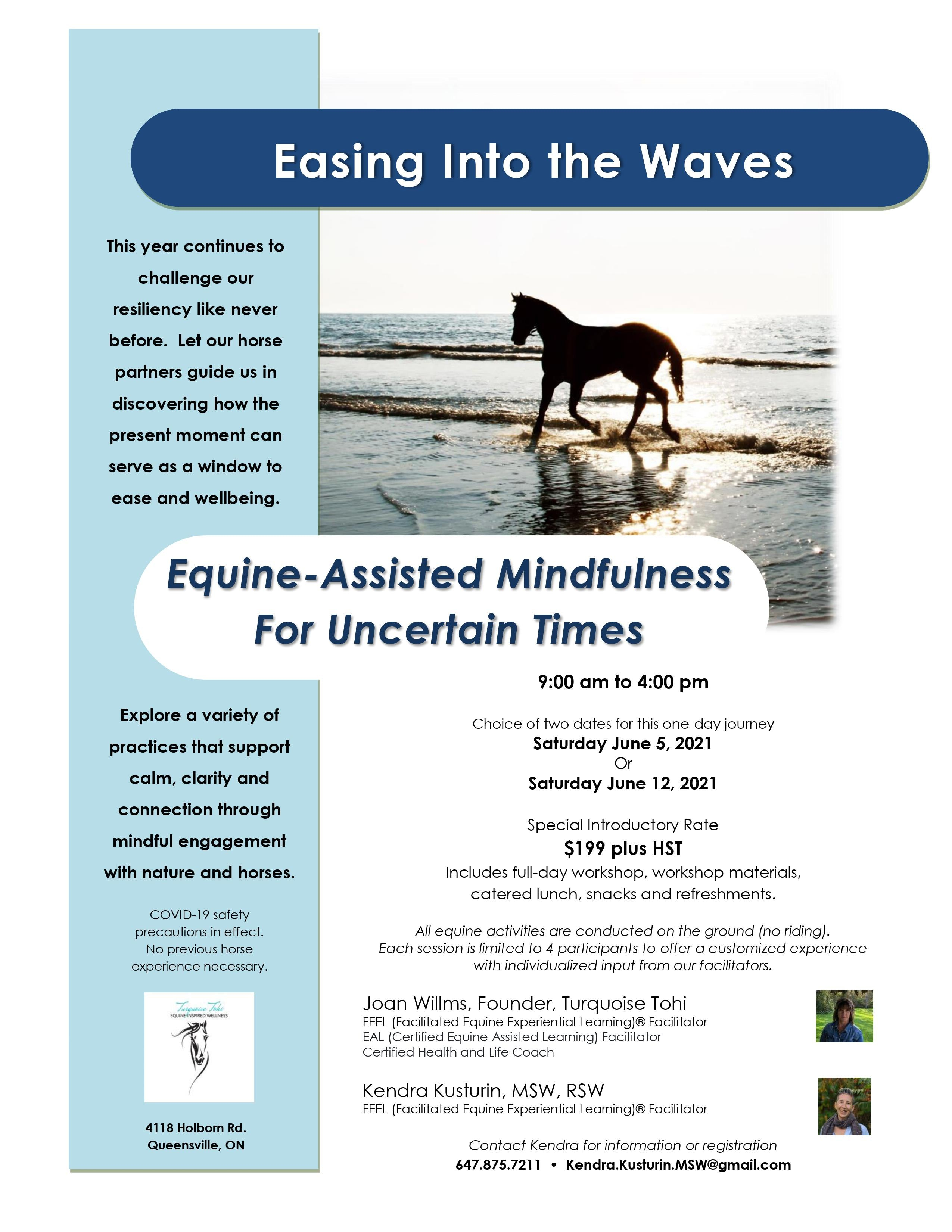 Easing Into The Waves Flyer